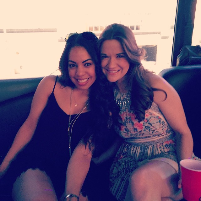 Raging it up w the Bday girl @stephanie.sherwood #stephiesdirty30 #partybus #12pmRage #malibu