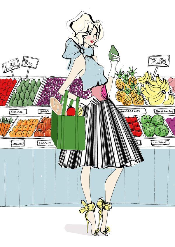 girl in super market