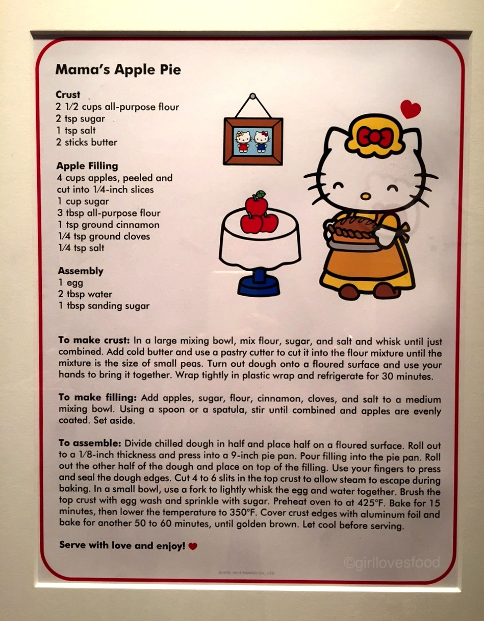 (!!!) I love that they provided a recipe to Hello Kitty's fave dish!