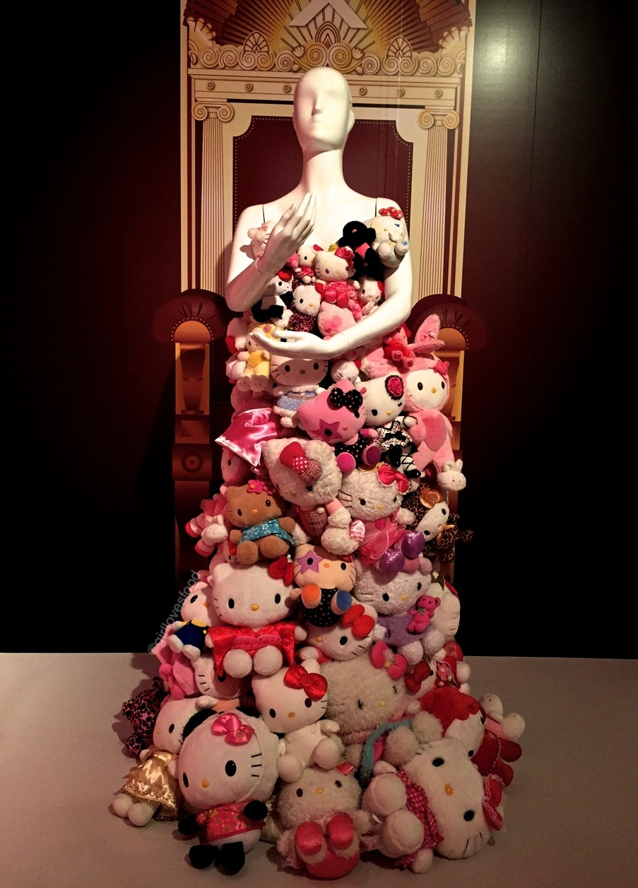 Hello Kitty plush doll dress as worn by Lady Gaga.  Check it out on her here