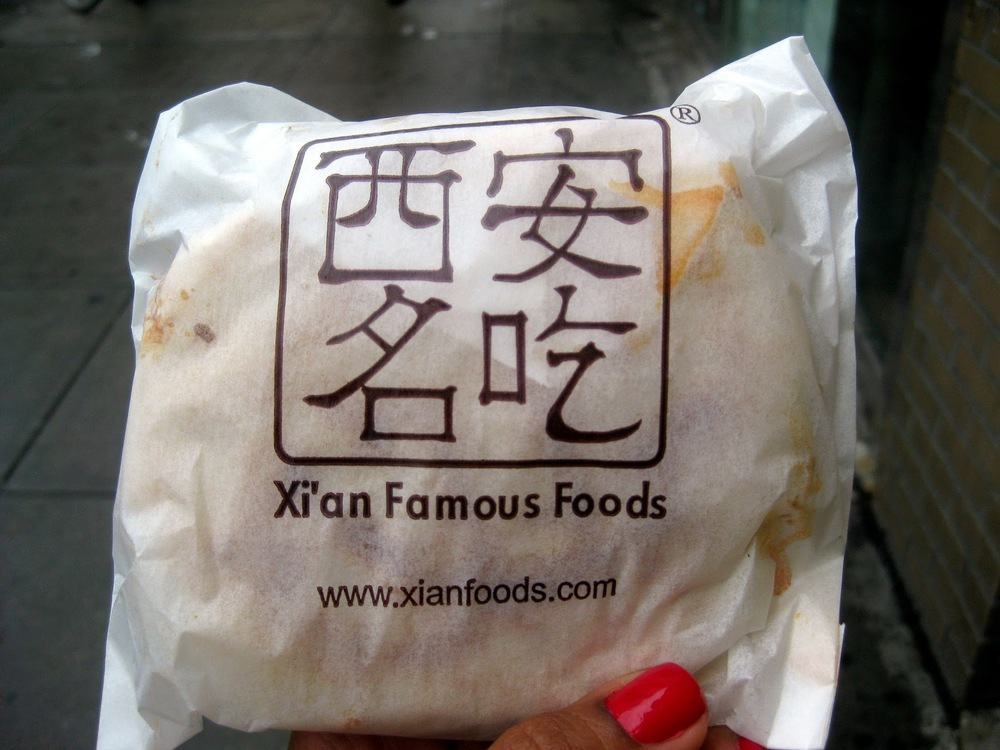 xian famous foods roasted lamb bun, best sandwich new york