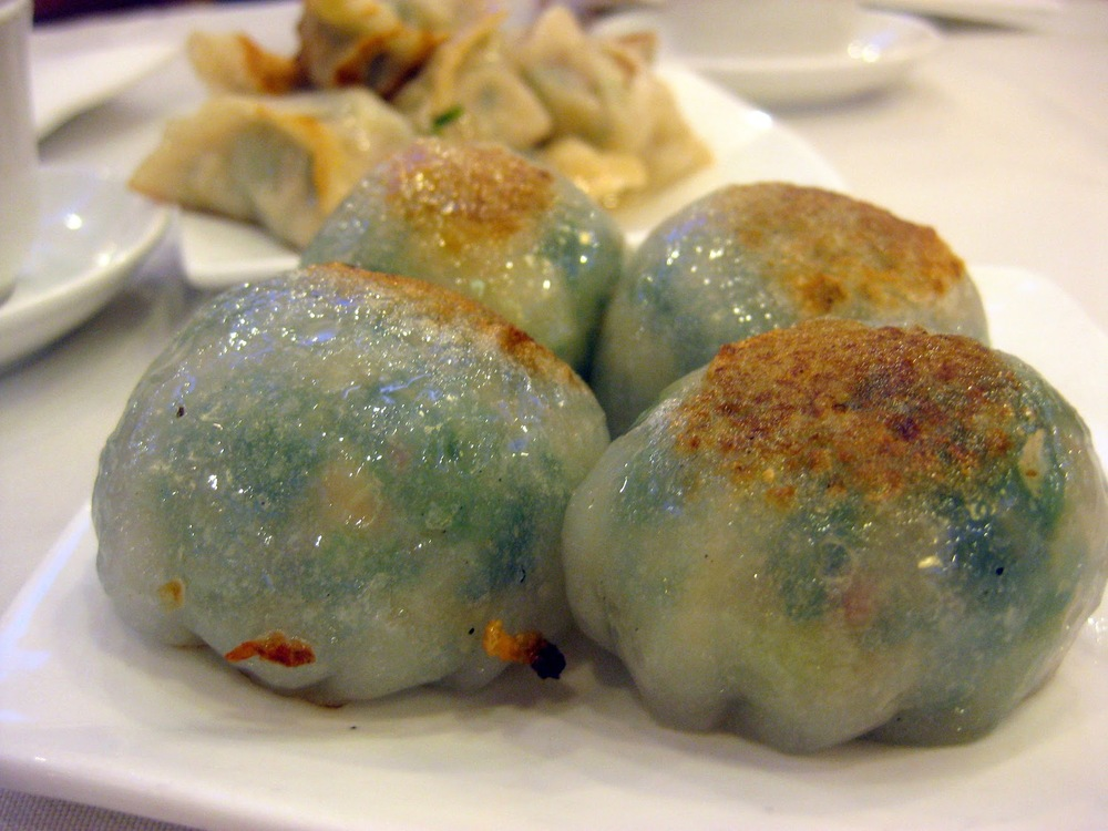 steamed green leek dumpling, golden dragon new york dim sum