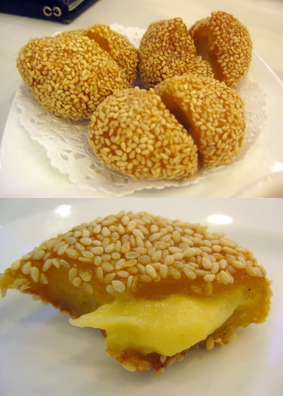 deep fried sesame ball dim sum, dim sum china town new york