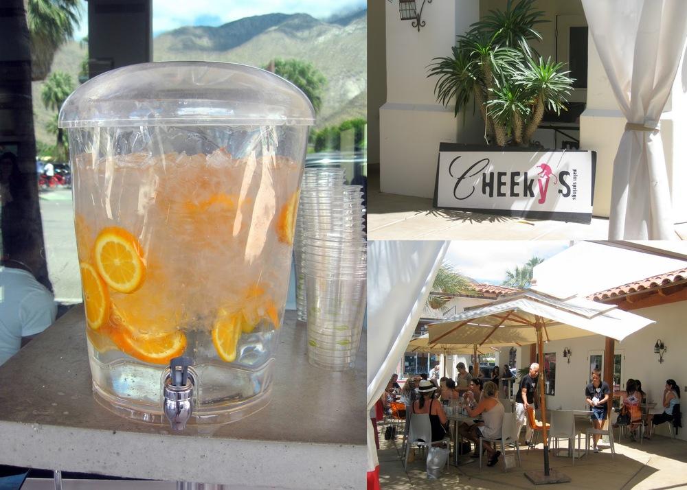 cheekys palm springs fruit water, fruit infused water
