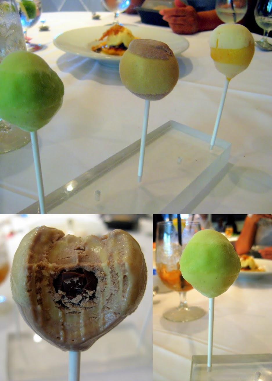 lollipops stefans la farm, dessert in santa monica, unique dessert stefan top chef