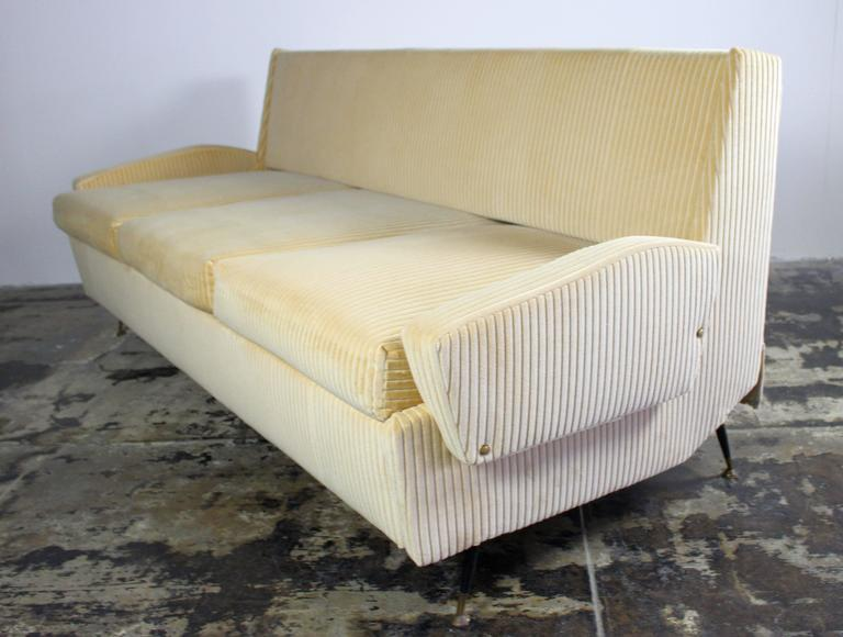 Italian Sofa With Burlap Bed Mechanism