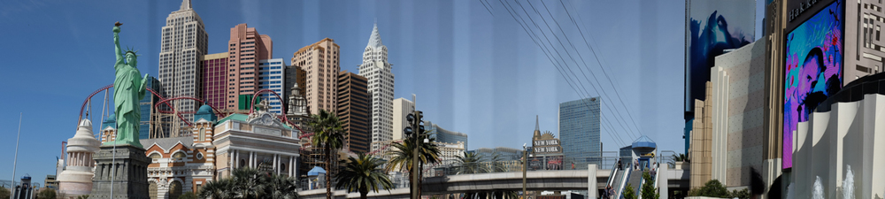 Panorama shot on the strip.