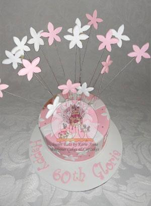 60th Exploding Cake