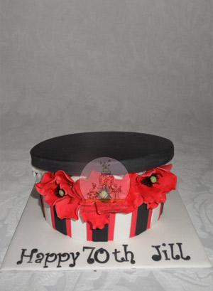 Poppy Hatbox Cake