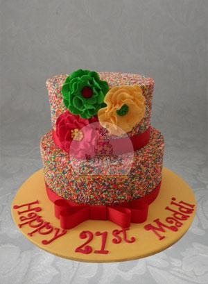 Rainbow Freckle Cake