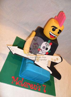 Punk Rocker Lego Figurine Cake