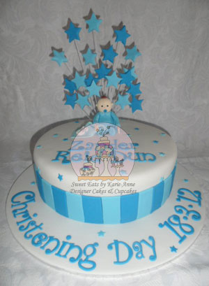 Stars and Stripes Christening Cake