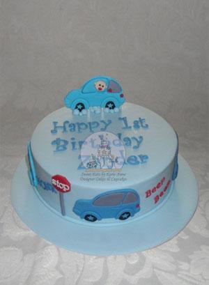 Zander's Car Cake