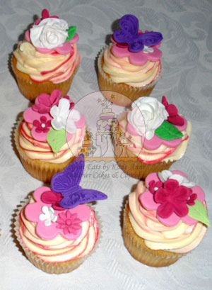 Butterfly and Floral Cupcakes