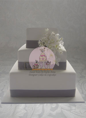 Singapore Orchid Wedding Cake 2