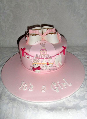 Designer Booties Cake
