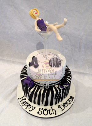 50th Zebra Bling Cake