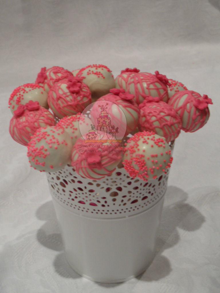 Pink & White Cake Pops