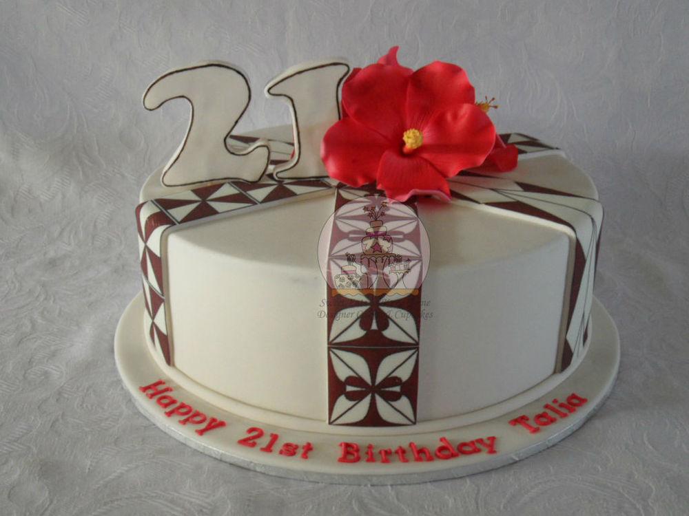 Hibiscus Islander themed Cake