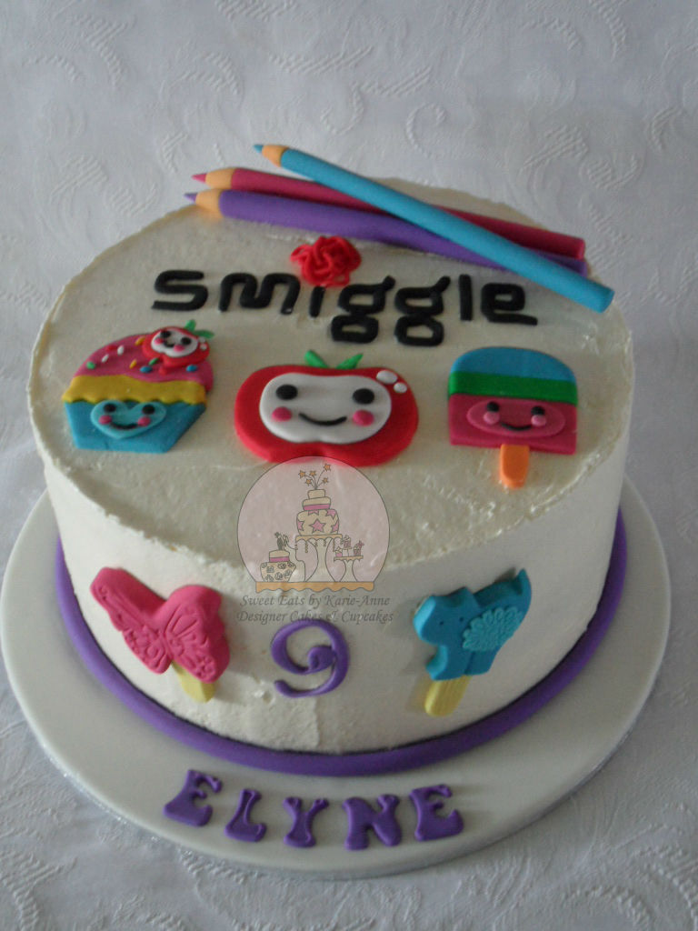 Smiggle Themed 9th Birthday Cake