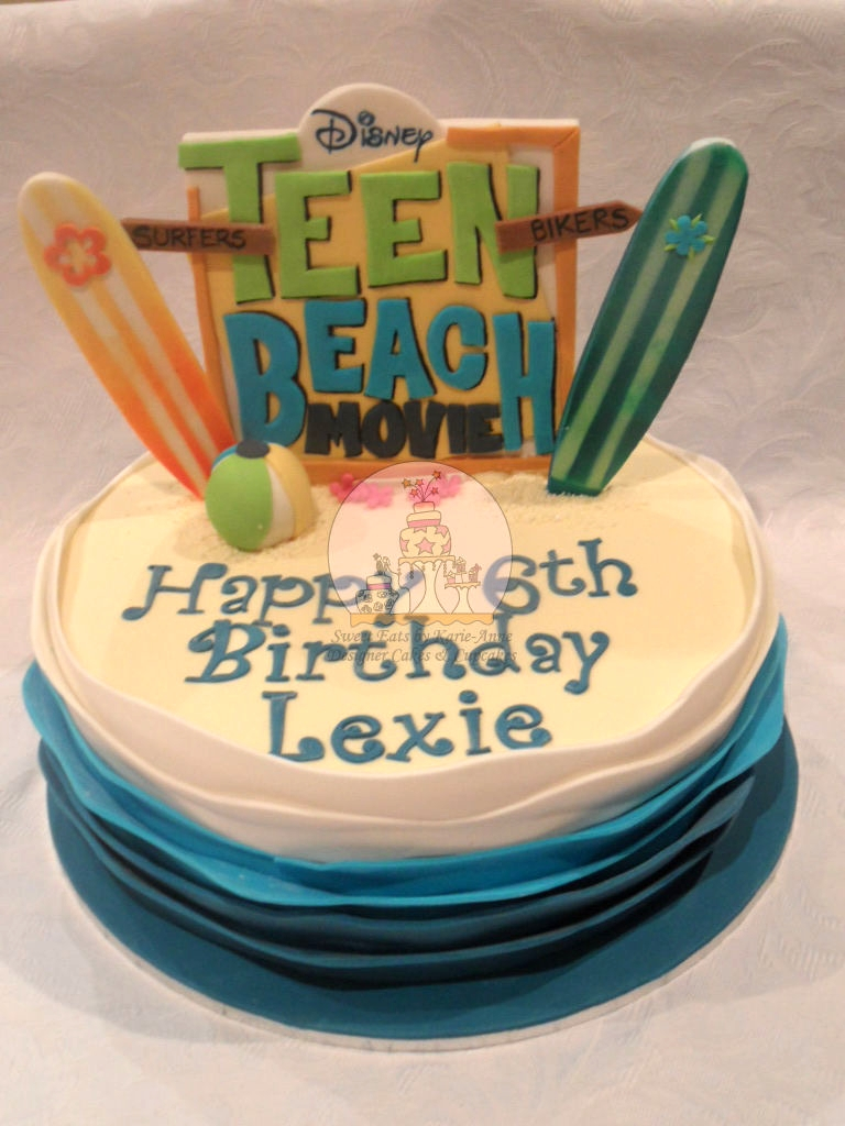 Teen Beach Movie Themed Cake