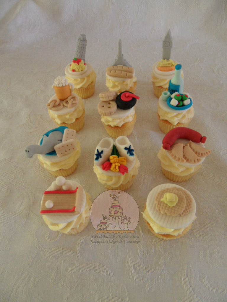 Overseas Holiday Inspired Cupcakes