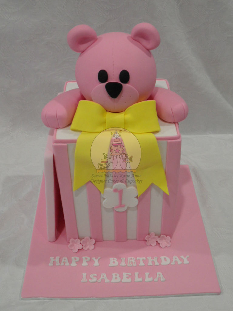 Bear in a Box Cake