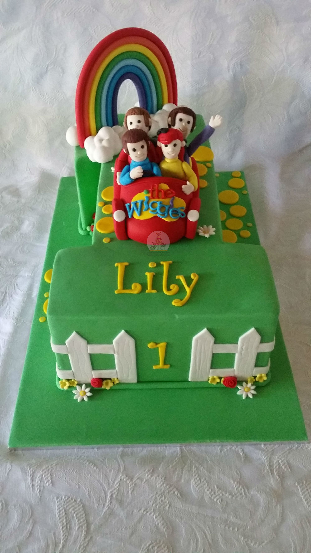 Wiggles Themed 1st Birthday Cake
