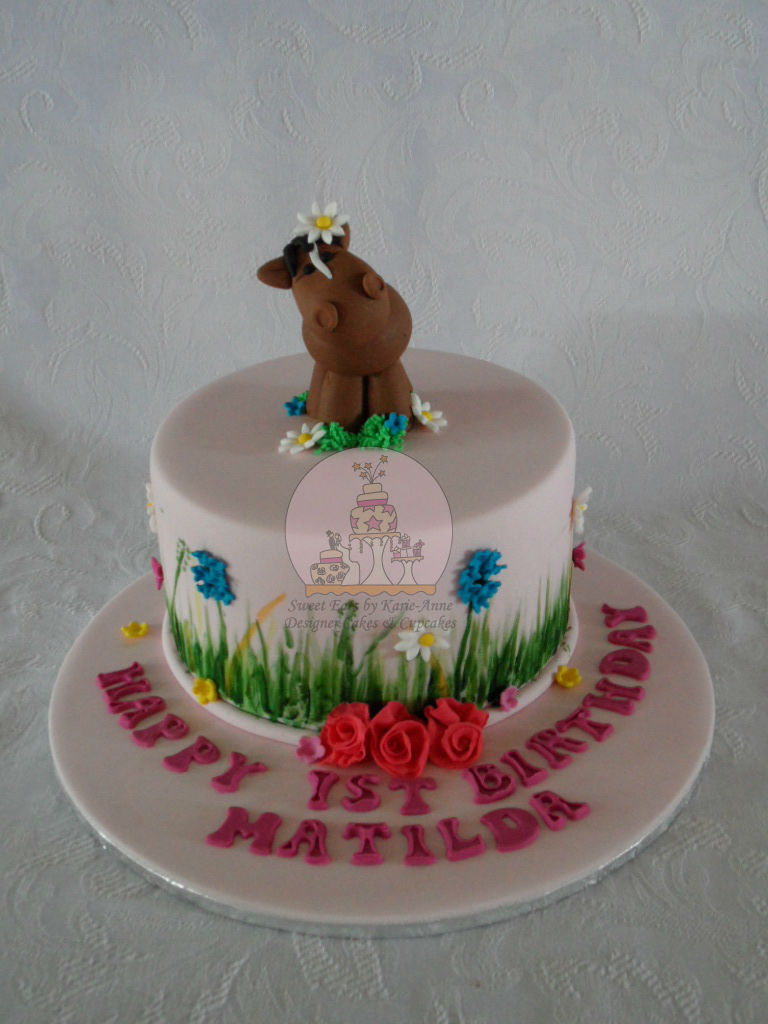 Horse themed 1st Birthday Cake