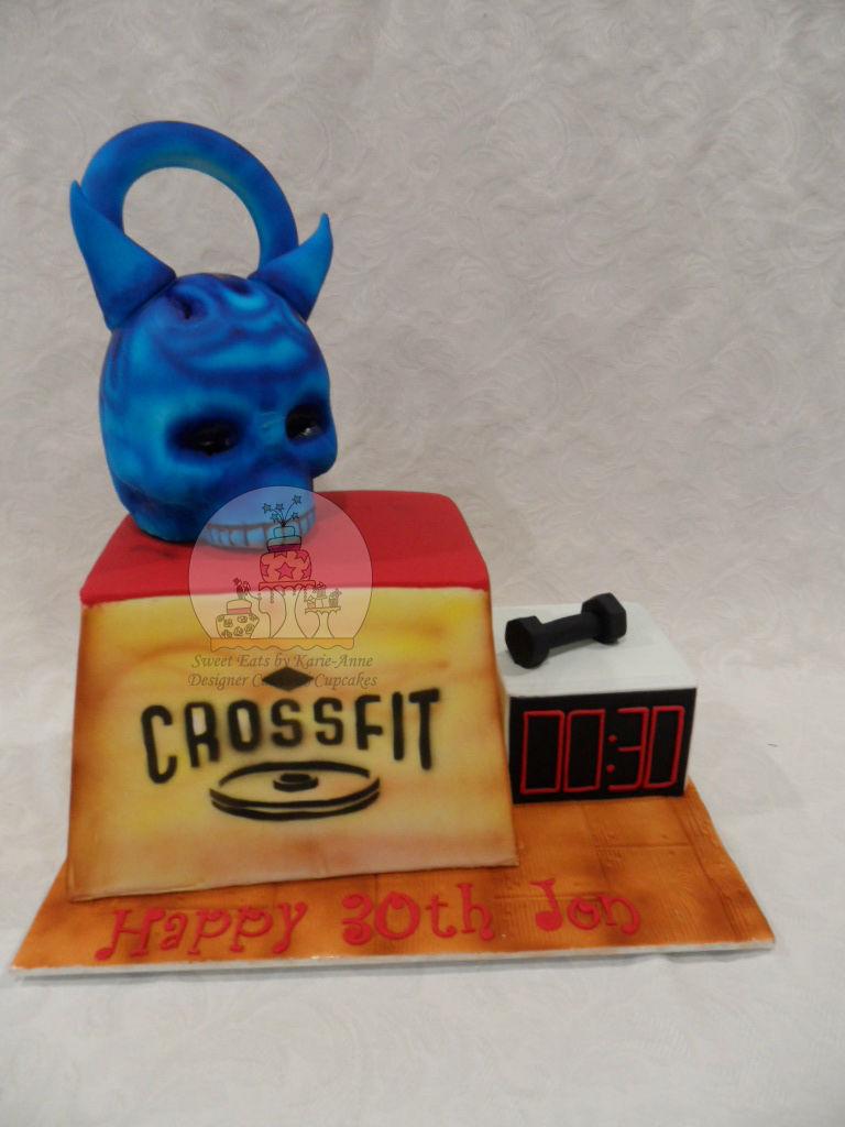 Crossfit Themed Cake & Skull Kettlebell