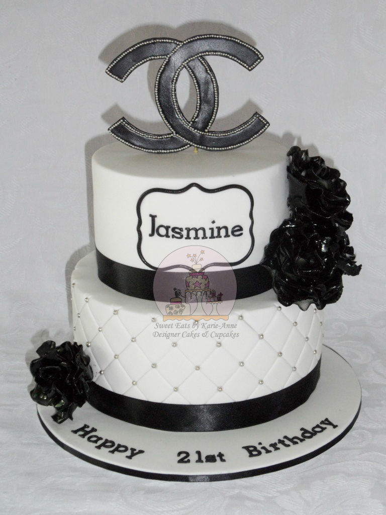 2 tier Chanel Black & White 21st Cake