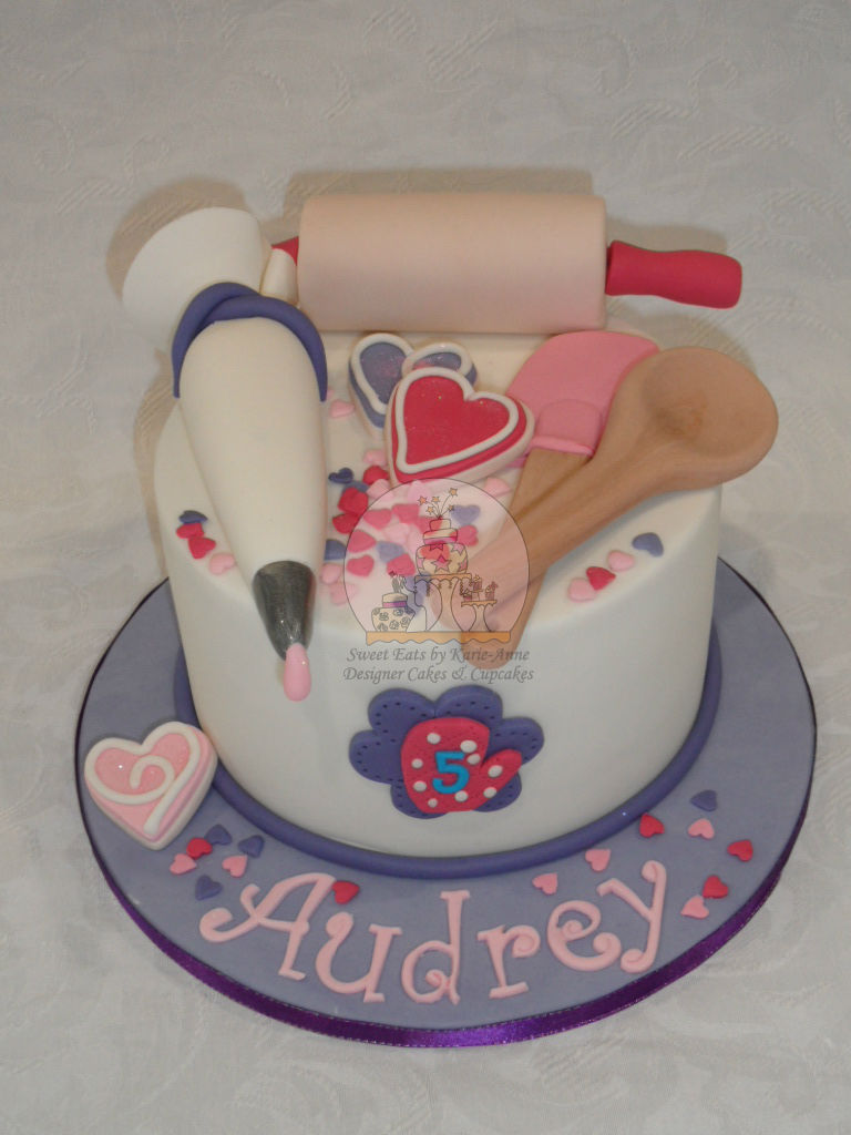 Baking Utensils themed Cake