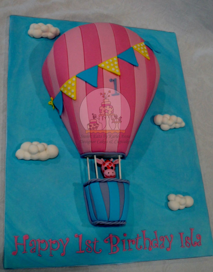 Up, Up and away 2d Balloon Cake