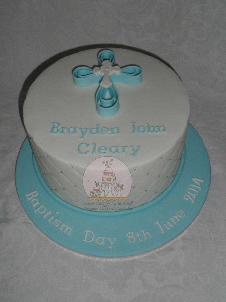 Baptism Cross Cake