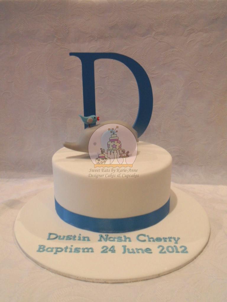 Elephant Topper Baptism Cake