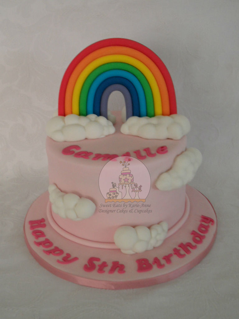 Rainbows & Fluffy Clouds Cake