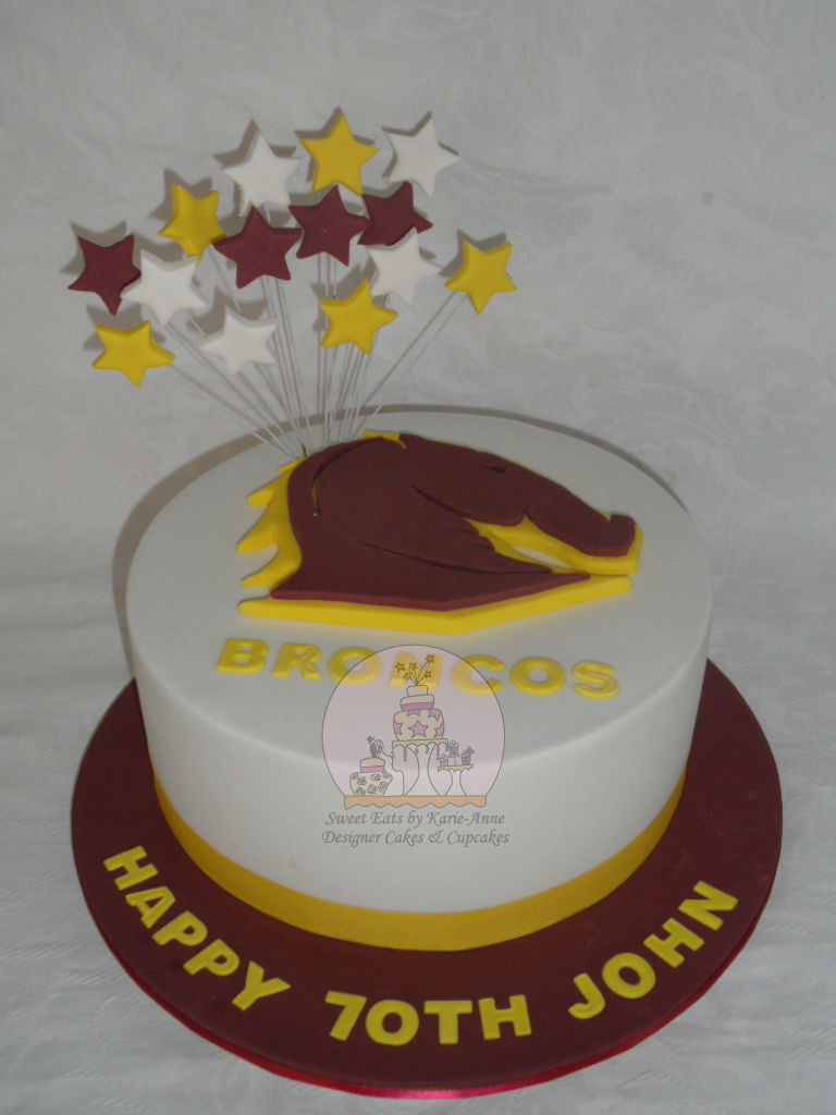Brisbane Broncos themed Cake