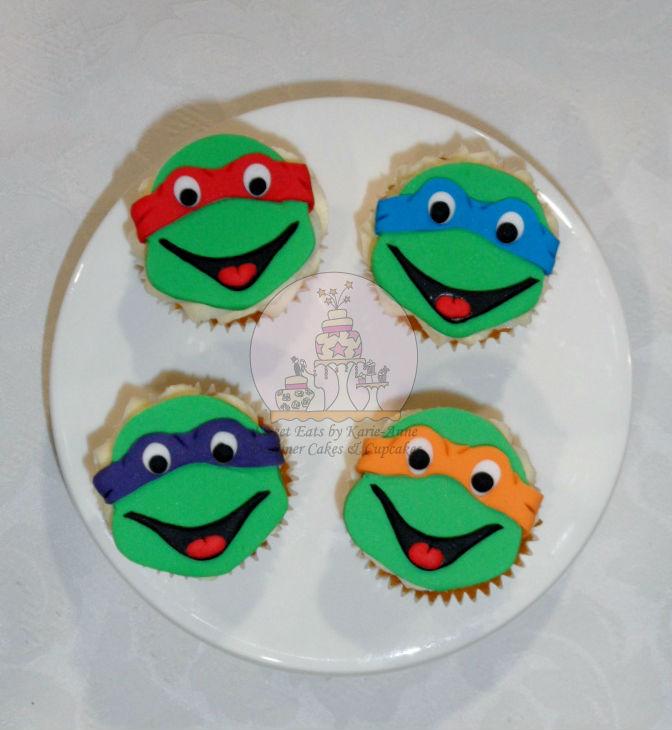 Cowabunga Dudes- TMNT Cupcake toppers