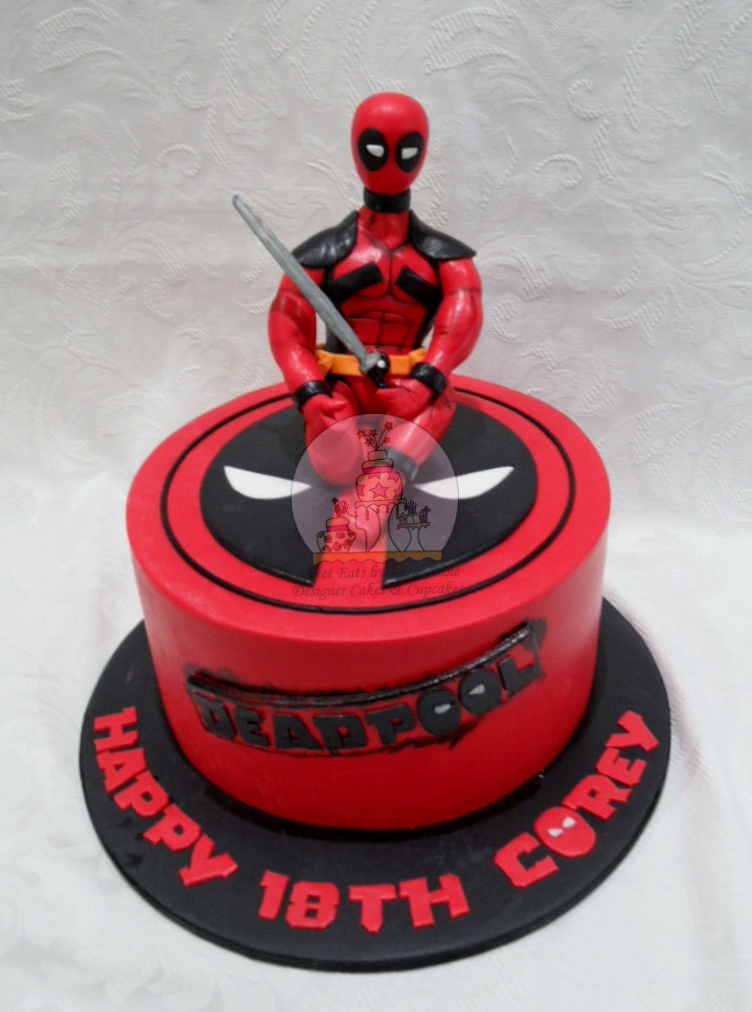 Deadpool themed 18th Birthday Cake