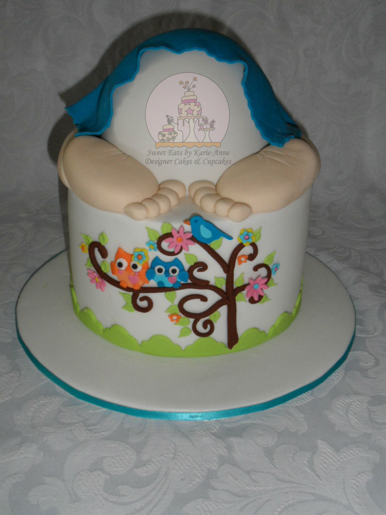 Baby Bum Baby Shower Cake