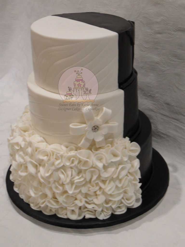 Half & Half Wedding Cake - Front View