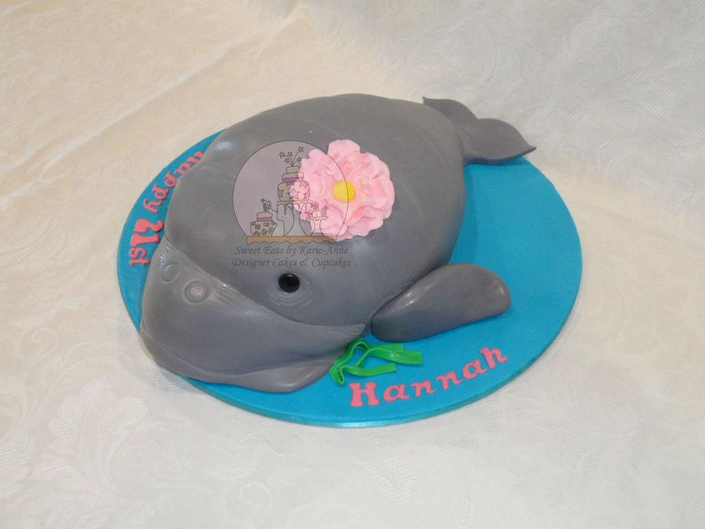 21st Dugong 3D Cake