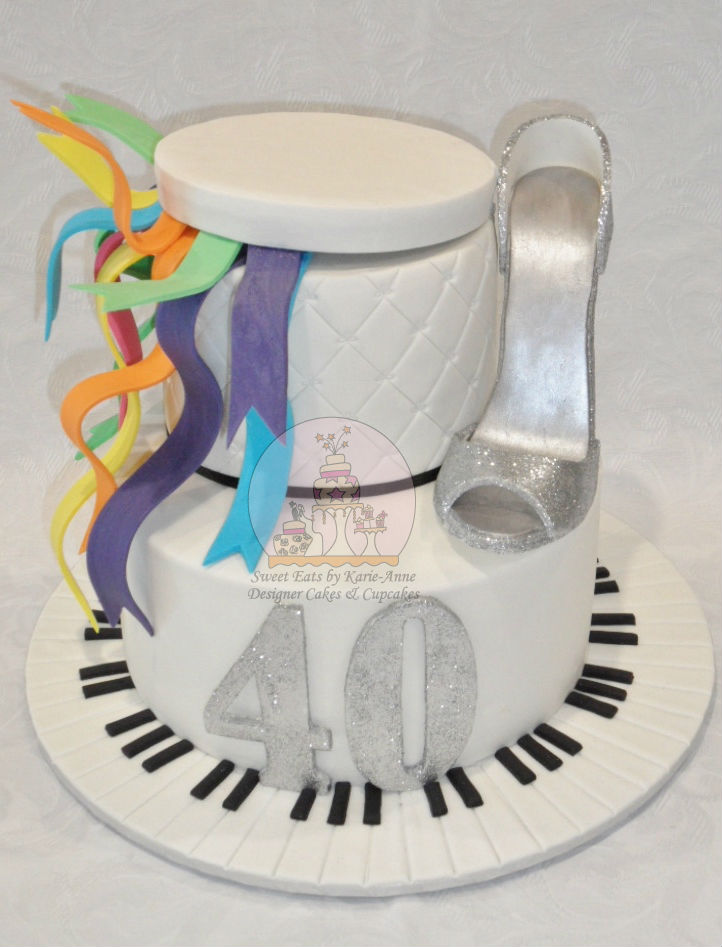 Piano teaching, Shoe loving Party 40th Cake