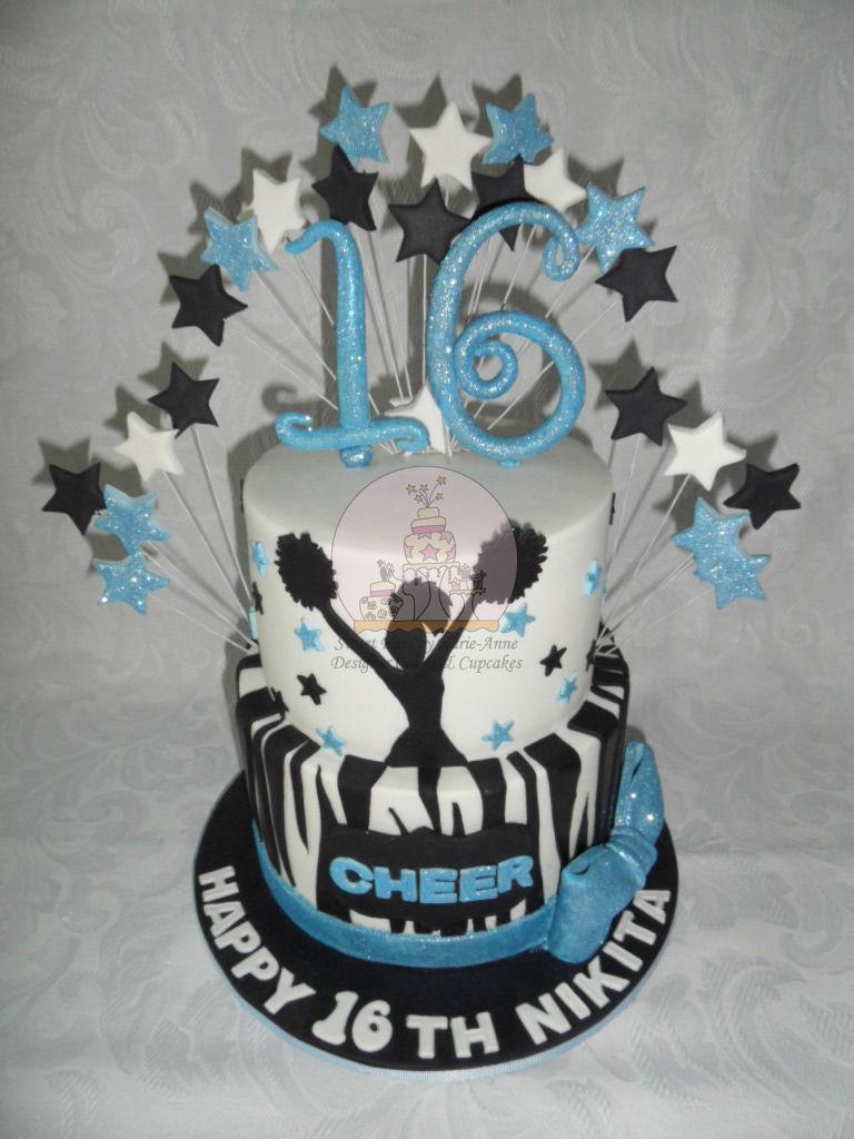 Cheerleading Themed  16th Birthday Cake