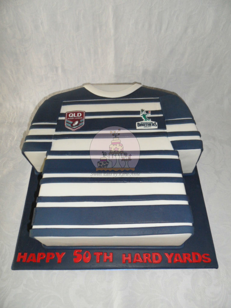50th Brothers Rugby League Jersey Cake