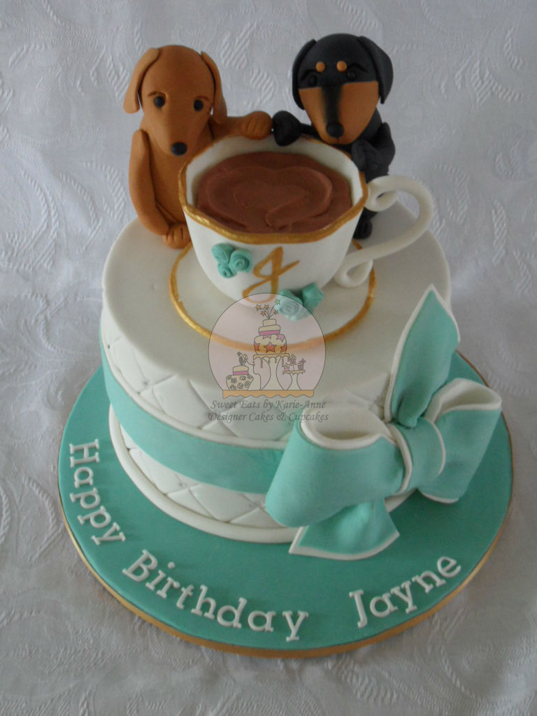 Dachshund Themed Birthday Cake