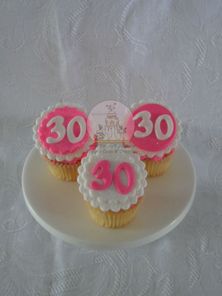 Glittery 30th Cupcakes