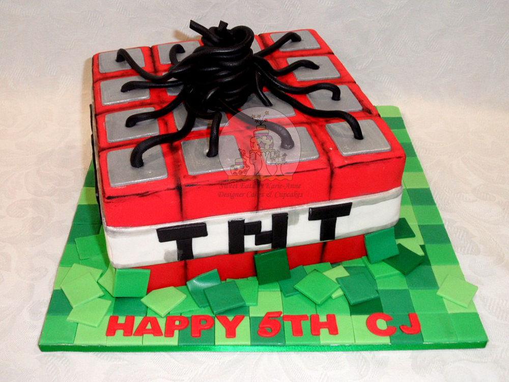 Mindcraft TNT Dynamite Cake