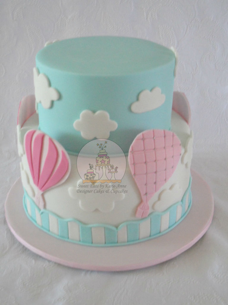 Balloon themed Baby Shower Cake