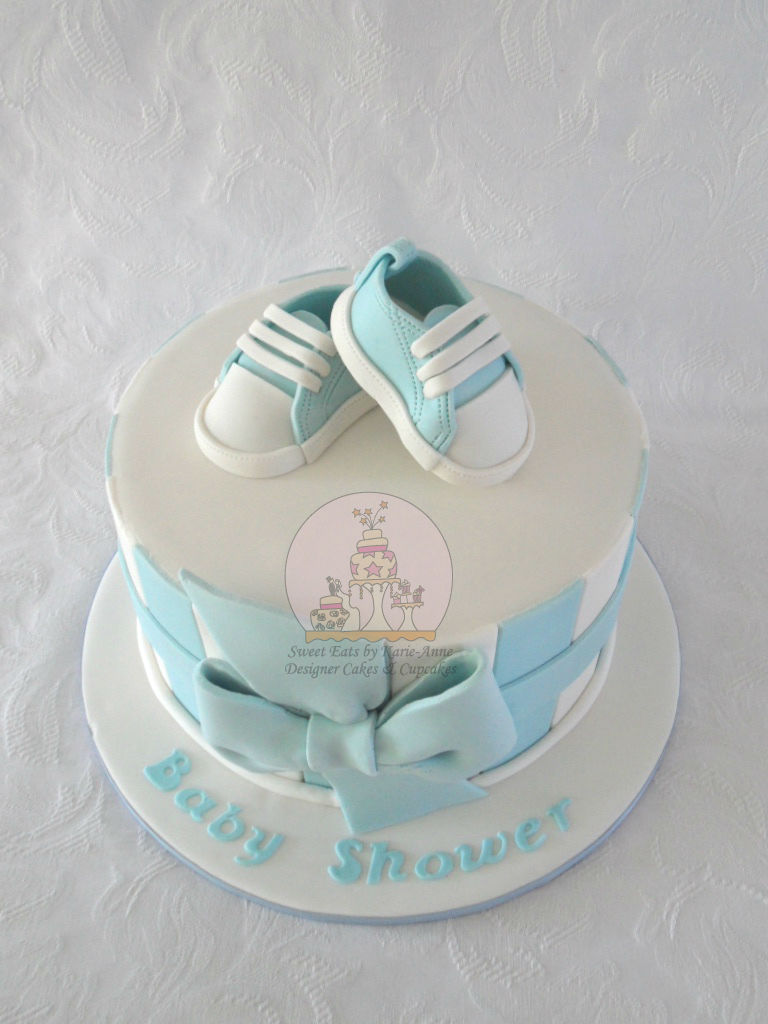 Baby Converse Baby Shower Cake